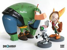 Ratchet and Clank and Qwark by ~freeny on deviantART