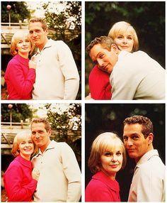 Paul Newman and Joann Woodward