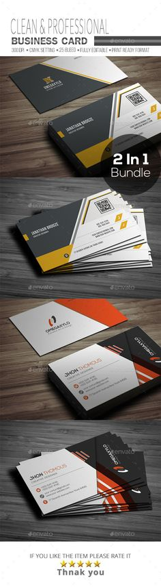Business Card Bundle 2 In 1 - #Corporate #Business #Cards Download here: https://graphicriver.net/item/business-card-bundle-2-in-1/19448601?ref=alena994