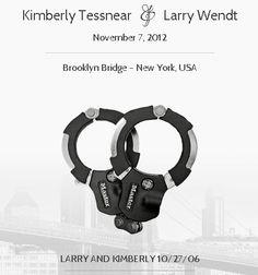 Master Lock virtual Love Lock on the Brooklyn Bridge, New York USA