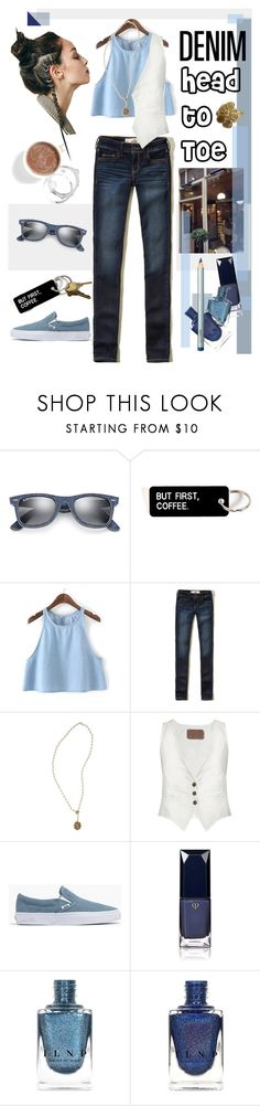 """""""But First Coffee"""" by cdshep ❤ liked on Polyvore featuring Ray-Ban, Barker, Hollister Co., Virgins Saints & Angels, Rockins, Madewell, Clé de Peau Beauté and Laura Mercier"""