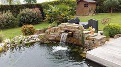 Rebeyrol créateur de jardins, aménagement de jardins limoges, paysagiste limoges, bassin, lame d'eau, bassin carpe koï