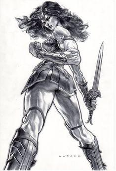 Art Vault - Wonder Woman by Lewis LaRosa * – Art Vault - Cartoon Kunst, Comic Kunst, Cartoon Art, Wonder Woman Kunst, Wonder Woman Art, Wonder Woman Drawing, Comic Book Characters, Comic Books Art, Comic Book Artists
