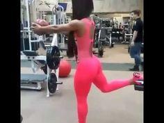 Ejercicio para aumentar gluteos. nalgas (yarishna ayala-model fitness) - motivacion gym - YouTube