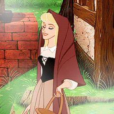 "disneyismyescape's Disney Princess Challenge Favorite Peasant Outfit: Aurora's Briar Rose Outfit "" Old Disney, Vintage Disney, Disney Girls, Disney Love, Disney Princess Aurora, Disney Princesses, Princess Bubblegum, Arte Disney, Disney Magic"