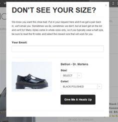Non c'è la misura delle scarpe che desideri tanto? Solestruck ti dà una speranza :-) Servizio interessante e linguaggio accattivante.