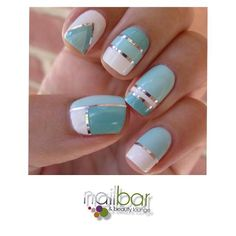 mint blue french nails @Ashleigh {bee in our bonnet} {bee in our bonnet} Morzone Fancy Nails, Love Nails, Diy Nails, How To Do Nails, Classy Nails, Style Nails, Fabulous Nails, Gorgeous Nails, Pretty Nails