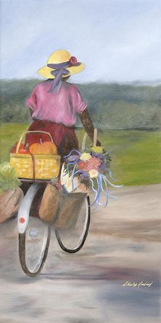 """""""Harvest Finds"""" by Shirley Lawing - (I love this painting)"""