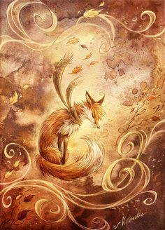 Autumn: Art & Design inspiration   Autumn fox Valdo by ~villasukka