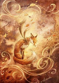 Autumn: Art & Design inspiration   Autumn fox Valdo by ~villasukka