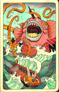 nick sirotich kracken ink illustration