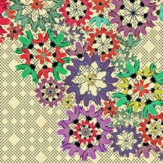 ☮ American Hippie Psychedelic Design Art ~ Bohemian Textile Wallpaper