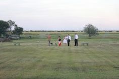 Bocce games at the outdoor wedding ( shared by WedPics.com )