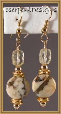 earrings--I have some glass beads that would do nicely like this,