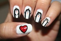 #dulce #pingüinos #corazón #rojo #tierno