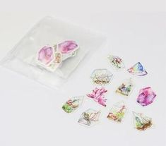 Watercolor Crystals + Terrariums Sticker, Set of 50 – The White Pad