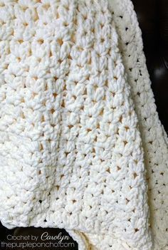 Simple Vintage Blanket - Free Crochet Pattern - The Purple Poncho - # Blanket # . - Simple Vintage Blanket – Free Crochet Pattern – The Purple Poncho – - Crochet Afghans, Motifs Afghans, Poncho Crochet, Crochet Baby Blanket Free Pattern, Crochet For Beginners Blanket, Afghan Crochet Patterns, Crochet Yarn, Quick Crochet Blanket, Crochet Granny