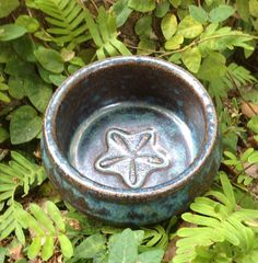 Stoneware bowl pottery hand thrown ring holder starfish by muddyme