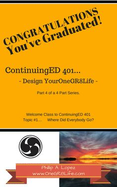 CONGRATULATIONS, You've Graduated! a 4-part series  ~Design YourOneGR8Life~  http://www.amazon.com/dp/B00WBZFJE4   This the final book of a four part series. Ever build a life before? Ready to act as the Architect and Builder of your one great life?  Umm? Relax, start with Smart Choices and understanding their root system. Smart Choices are not limited to the sole strength of inductive logic or based solely upon whimsical heart driven preference. You are more Powerful than you will ever…