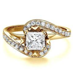 1.42 CaratPrincess Cut DiamondMultistone Ring on 14K Yellow - Gold FineTresor. $5545.78. Center Diamond Cut: Princess. Diamond Color: I-J. Center Dimond Carat Weight: 0.75. Diamond Clarity: I1-I2. Metal: 14 K Yellow - Gold