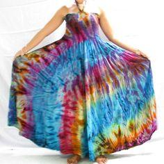 5X Size Clothing For Women | ND3270 TIE DYE SMOCKED HALTER LONG DRESS 1X/2X/3X/4X/5X - eBay (item ...
