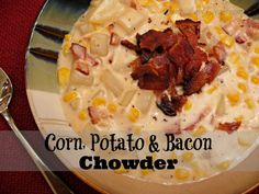 "Like this recipe? ""Pin it"" to save it by clicking the photo above!!  Be sure to follow CentsLessDeals on Pinterest and check out our other great recipes while you're here! This Corn, Potato & Bacon Chowder recipe is perfect for this cold weather we've been having!! It's easy to make, and is sooo yummy and …"