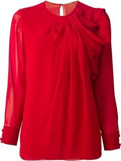 Saint Laurent Draped Blouse - Monti - Farfetch.com