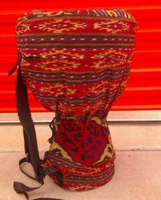 """24"""" - 26"""" LARGE Djembe Drum Bag Back Pack Case Cover Backpack by Made Drums. $32.99. We've been selling high quality percussion since 2001. All our drums are professionally hand produced with a stringent quality control.  Each djembe is specially crafted with sound quality and playability in mind, with additional attention give to aesthetics. All of our djembes are backed up by our 100% satisfaction guarantee. Buy with confidence, each djembe is always individually i..."""