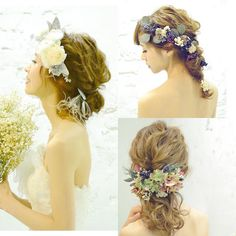 @aco_wedding.lillaのInstagram写真をチェック • いいね!215件 Wedding Party Hair, Wedding Hair And Makeup, Wedding Hair Accessories, Hair Makeup, Dress Hairstyles, Party Hairstyles, Bride Hairstyles, Fascinator, Hair Arrange