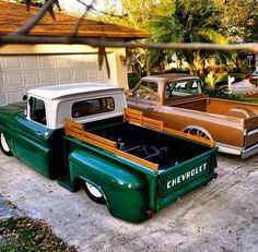 I'm a huge fan of slammed trucks, and I love the bed rails and the colour. Bagged Trucks, Lowered Trucks, C10 Trucks, Mini Trucks, Hot Rod Trucks, C10 Chevy Truck, Chevy Pickups, Hot Rods, Classic Pickup Trucks