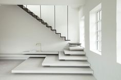The humble staircase can do far more than provide access to your second floor. Stairs can fulfil multiple purposes from storage and thermal regulation to design feature or just sheer fun. Stair Handrail, Staircase Railings, Stairways, Spiral Staircases, Staircase Architecture, Interior Architecture, Railing Design, Staircase Design, Stair Design
