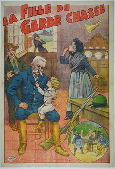 "La Fille du Garde Chasse / Origin: France - c. 1920 / 32 x 47 in (80 x 119 cm) / ""The daughter of the gamekeeper"""