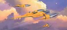 Naboo fighter ship concept art