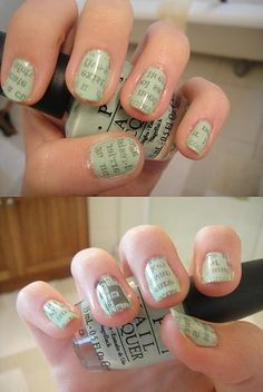 Cool newspaper nails!