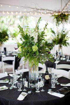 Foliage, foliage, foliage (plus some white delphinium)