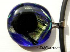 Glassfused Dichroic Polar Night - Necklace OOAK Unique! Handmade beaded Jewelry and Beading by Ziddharta by Ziddharta on Etsy