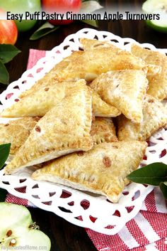 The well-loved flaky puff pastry filled with a simple homemade apple-pie-like filling, and sprinkled with cinnamon sugar makes this treat taste just like the classic apple pie. Minus the hassle of pie making and baking. #puffpastry #cinnamonappleturnovers #thanksgiving #fallbaking #valyastasteofhome | www.valyastasteofhome.com Chef Recipes, Cookie Recipes, Snack Recipes, Dessert Recipes, Yummy Recipes, Snacks, Recipes With Beef And Vegetables, Winter Desserts, Thanksgiving Desserts
