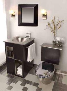 Stainless bathroom