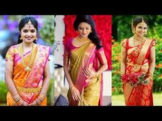 5 Gorgeous Ways to Wear South Indian Saree in Different Styles Step by Step with Perfect Pleats | - YouTube