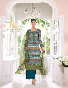 High Quality Cotton with Pure Dupatta ,Straight Suit For Order Call @ 91 9900169212