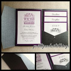 Black Metallic Shimmer Wedding Invitations DIY Pocket Envelopes Folder Classic | eBay