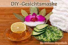 Gurkenmaske selber machen - mit nur 3 Zutaten - belebt und erfrischt die Haut.