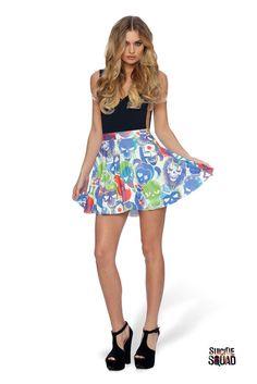 Suicide Squad Pocket Skater Skirt – Black Milk Clothing
