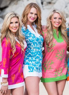 LOVING these Adorable Beach cover ups!   Turquoise Ikat Tunic $48