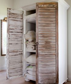 Bookcase with Shutter Doors