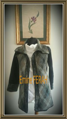 Plaid Jacket #crochet #handmade