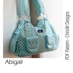 INSTANT DOWNLOAD Handbag sewing pattern  PDF