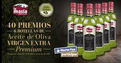 ¡LA MASÍA regala 40 LOTES de 6 BOTELLAS de Aceite de Oliva VIRGEN EXTRA PREMIUM EDICIÓN LIMTADA!