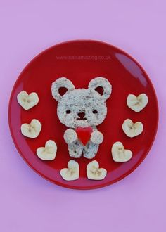 Fun Food Art for Kids - Cute Snack Plate for Valentines Day with CuteZCute Cutters from Eats Amazing UK