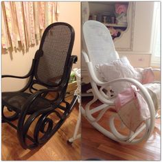 CompletedWood Rattan Rocking Chair Rocking Chairs Rattan - Antique bentwood rocker rocking chair